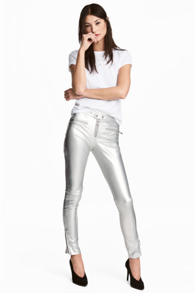 Biker trousers - Silver - Ladies | H&M CN 1