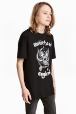 Printed T-shirt - Black/Mot?rhead - Kids | H&M CA 1
