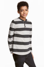 亨利衫 - Dark grey/Striped -  | H&M 1