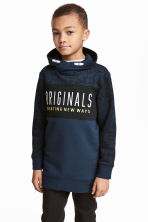 Printed sweatshirt - Dark blue - Kids | H&M CN 1
