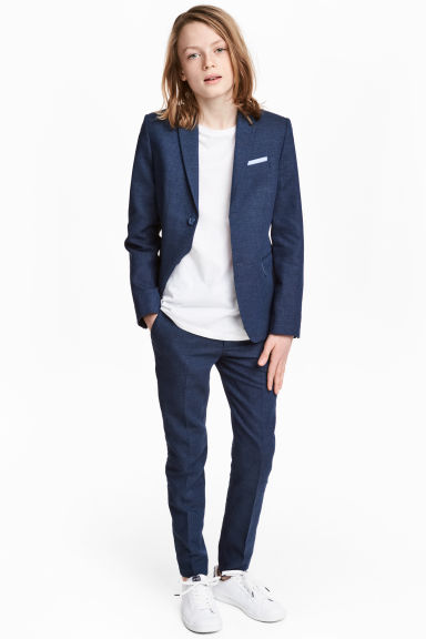 Cotton-blend suit trousers Model