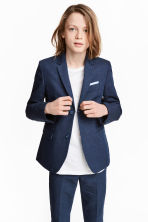 Textured jacket - Dark blue - Kids | H&M 1