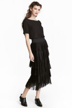 Tiered skirt - Black - Ladies | H&M CN 1