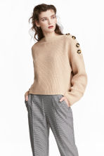 Boatneck jumper - Light beige - Ladies | H&M 1