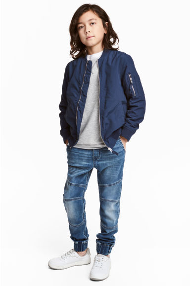 Supersoft denim joggers - Denim blue - Kids | H&M