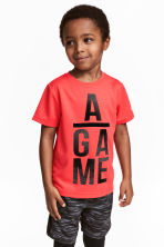T-shirt training - Rouge corail - ENFANT | H&M FR 1