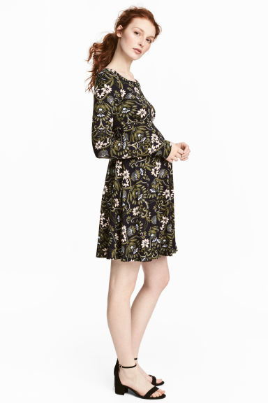 MAMA Jersey dress - Dark blue/Floral -  | H&M