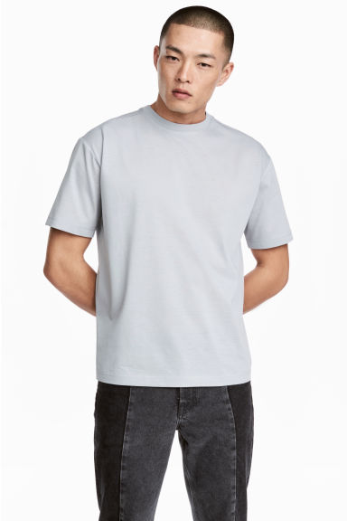 Cotton T-shirt - Light grey - Men | H&M CA 1