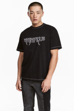 Embroidered T-shirt - Black - Men | H&M 1