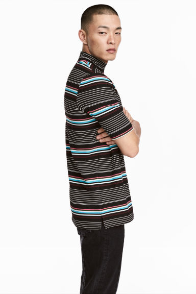 Turtleneck T-shirt - Black/Striped - Men | H&M 1