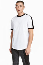 T-shirt with grosgrain - White - Men | H&M 1