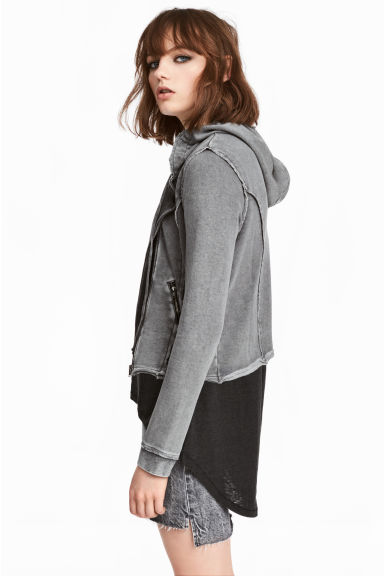 Sweatshirt jacket - Grey - Ladies | H&M 1