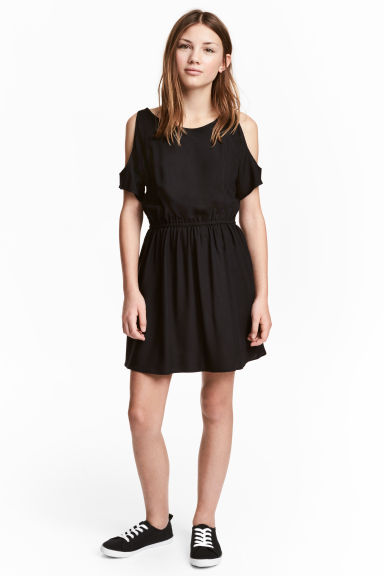 Cold shoulder dress - Black -  | H&M CN 1