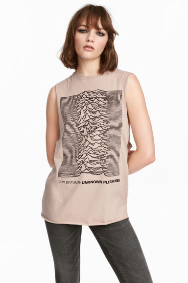 Tanktop med tryck - Beige/Joy Division - DAM | H&M FI 1