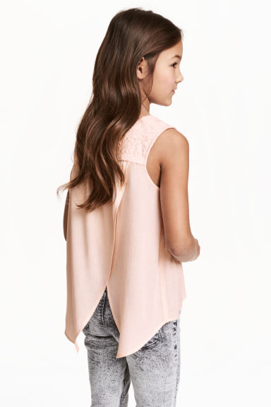 Open-back top - Powder pink - Kids | H&M CN 1