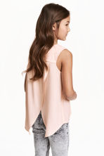 Open-back top - Powder pink -  | H&M 1