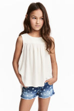 Open-back top - White - Kids | H&M 1