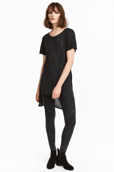 Biker leggings - Black washed out - Ladies | H&M CN 1