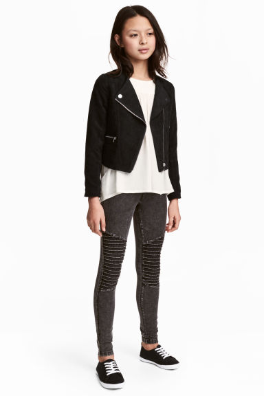 Biker leggings - Black washed out - Kids | H&M 1