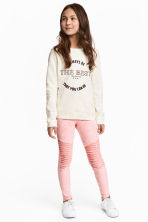 Biker leggings - Washed-out pink - Kids | H&M 1