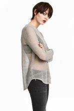Knitted top - Grey - Ladies | H&M 1