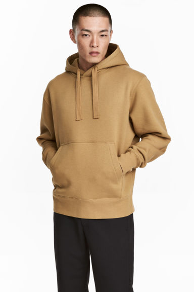 Oversized hooded top - Mustard yellow - Men | H&M 1