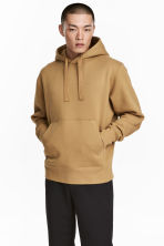 Oversized hooded top - Mustard yellow - Men | H&M CN 1