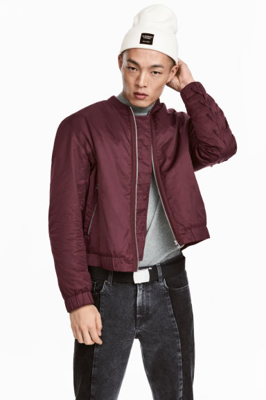 Bomber jacket - Burgundy - Men | H&M GB