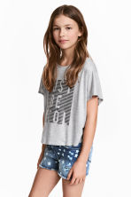 Top ample - Gris chiné - ENFANT | H&M FR 1