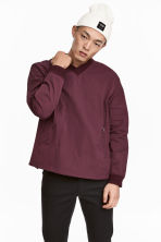 Pull-on V-neck shirt - Burgundy - Men | H&M 1