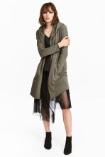 Sweatshirt cardigan - Khaki green - Ladies | H&M CN 1