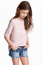 Printed T-shirt - Light purple marl - Kids | H&M 1