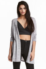 Fine-knit cardigan - Grey - Ladies | H&M CN 1