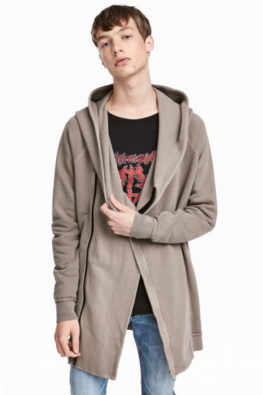 Hooded sweatshirt cardigan  - Mole - Men | H&M 1