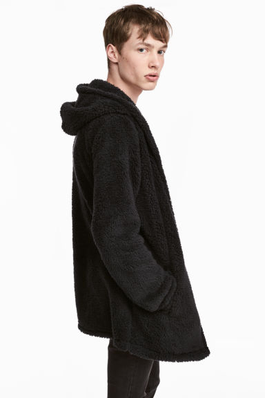 Fleece cardigan - Black - Men | H&M CN 1