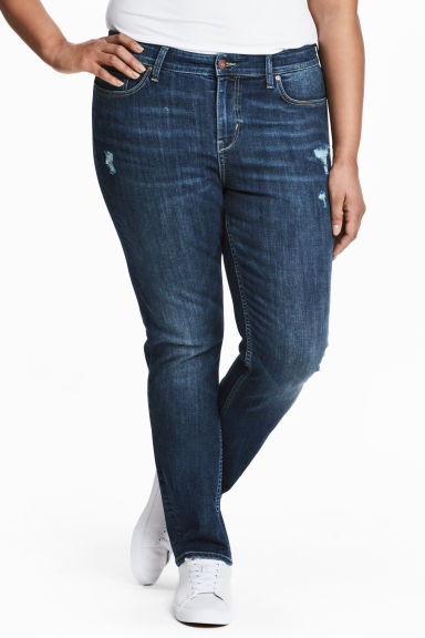 H&M+ Straight Regular Jeans - Blu denim scuro - DONNA | H&M IT