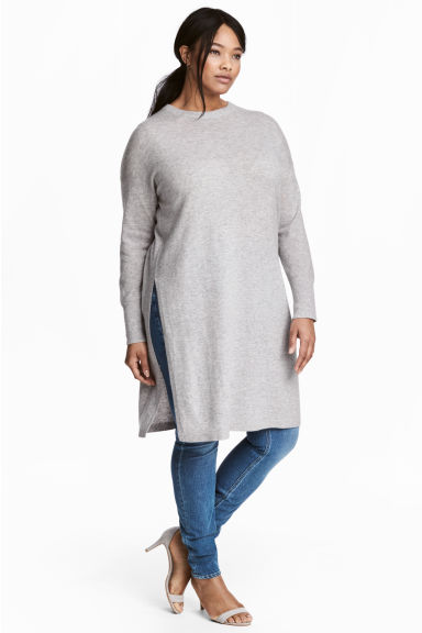H&M+ Tunica in cashmere - Grigio mélange -  | H&M IT 1