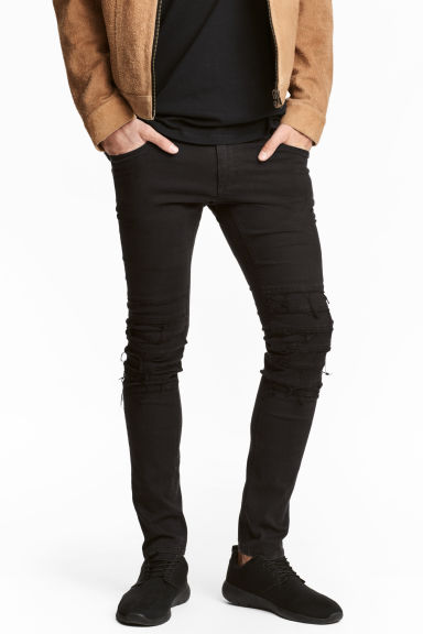 Skinny Low Jeans - Black denim -  | H&M 1