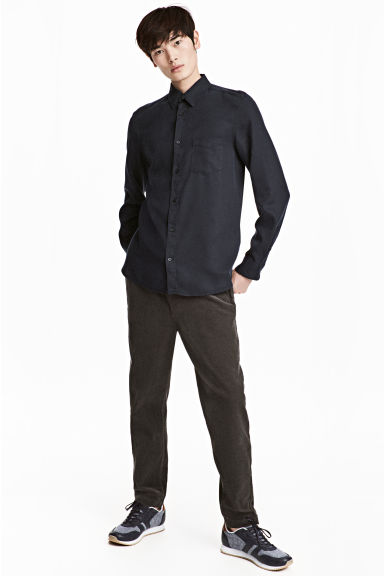 Corduroy trousers - Dark grey - Men | H&M CN 1