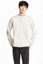 亨利衫 - Light grey marl - Men | H&M 1