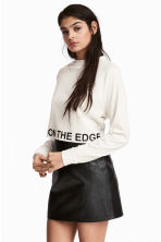 Cropped sweatshirt - White - Ladies | H&M 1