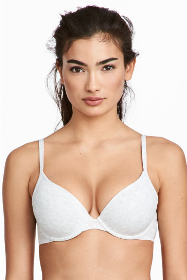 2-pack push-up bras - Light grey marl - Ladies | H&M CN 1