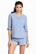 Cotton pyjamas - Chambray/Patterned - Ladies | H&M CN 1