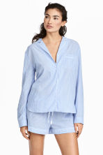 Cotton pyjamas - Lt.blue/Narrow strip - Ladies | H&M 1