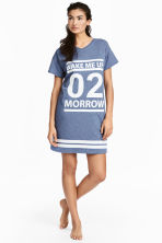 Printed nightdress - Blue marl - Ladies | H&M CN 1