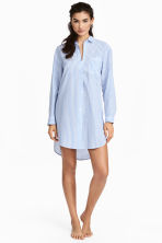 Cotton nightshirt - Lt.blue/Narrow strip - Ladies | H&M 1