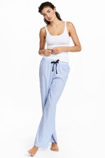 Pantaloni da pigiama in cotone - Azzurro/righine - DONNA | H&M IT 1
