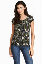 MAMA Nursing top - Black/Floral - Ladies | H&M 1