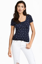 MAMA 2-pack nursing tops - Dark blue/Heart - Ladies | H&M CN 1