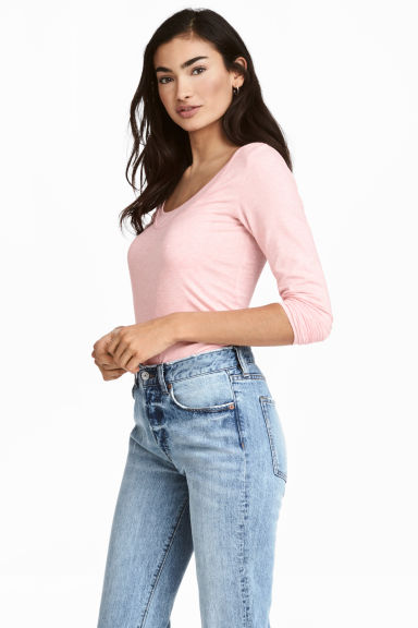 MAMA Nursing top - Light pink marl - Ladies | H&M 1